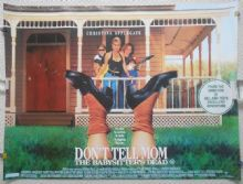 Don't Tell Mom the Babysitter's Dead, Original UK Quad, Christina Applegate, '91